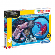 Пъзел Clementoni 180 части National Geographic Kids Ocean Expedition 29205